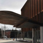 leaf-shaped corten steel canopy